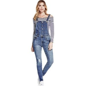 Guess Aviana Distressed Overalls